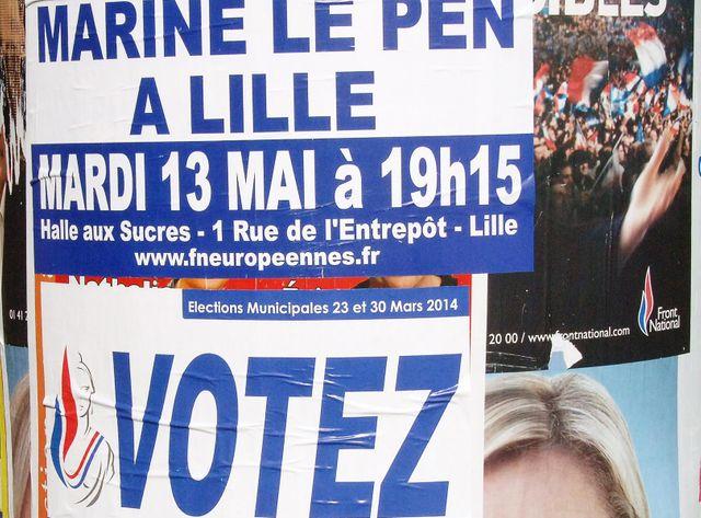 Marine le Pen caracole toujours en tête dans les sondages dans le Nord-Pas-de-Calais