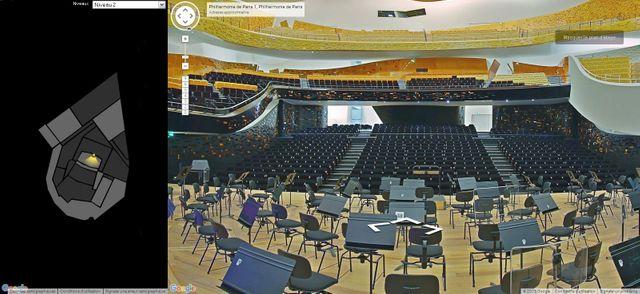 Capture d'écran sur Google Performing arts - Philarmonie de Paris