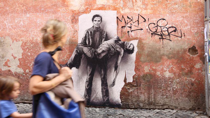 PASOLINI. 40 ans après son assassinat. Collage à Rome, Ostia, Naples, Matera, Mai/Juin 2015