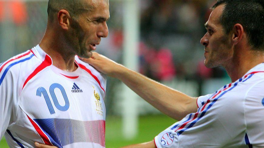 Zizou et Sagnol lors de la coupe du monde 2006.