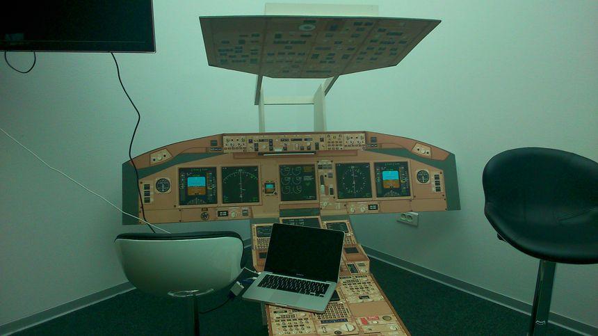 Le simulateur de vol d'Entzheim.