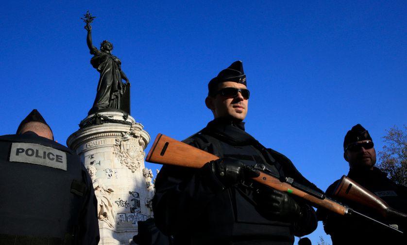 Paris, place de la République. 15 novembre 2015