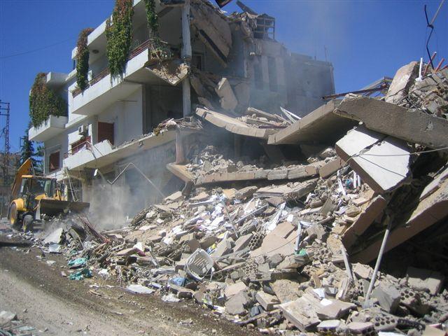 Bombardement à Baalbek, Liban, 09/09/2006