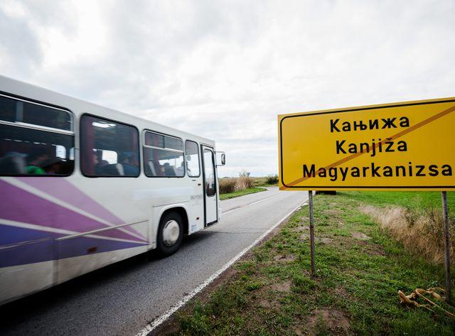 La frontière entre la Serbie et la Hongrie