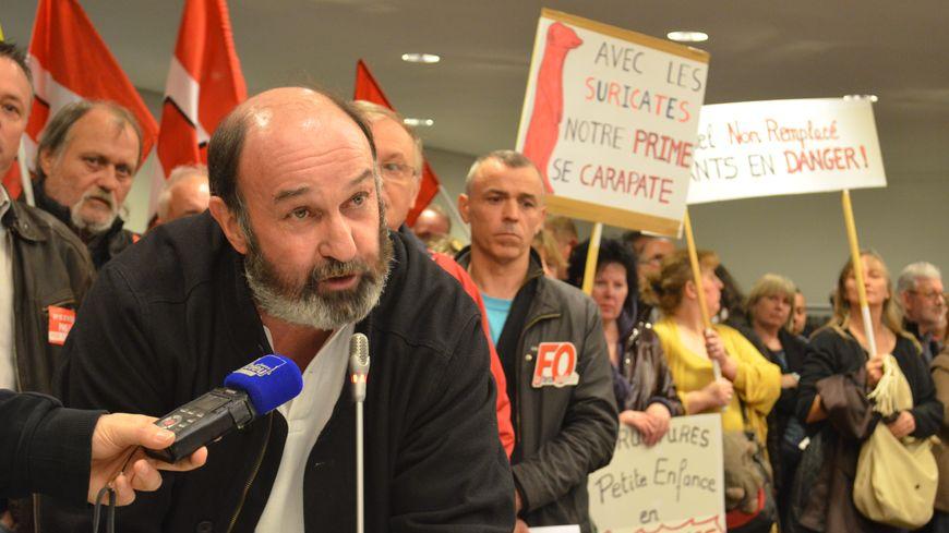 Gilles Armange, délégué CGT des territoriaux du Mans.