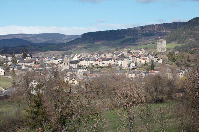 Vue générale de Chanac (Lozère)