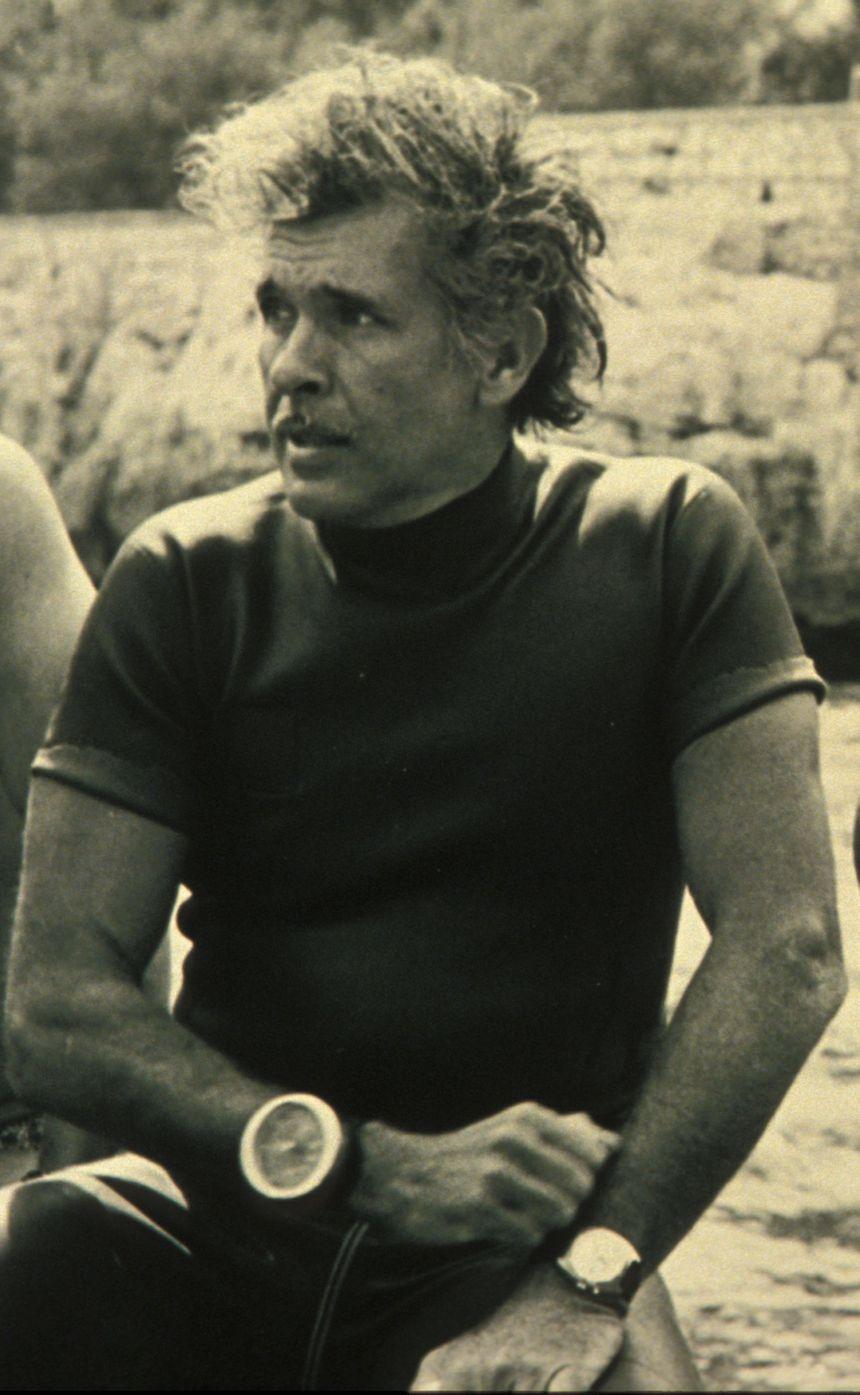L'apneiste Français Jacques Mayol. Il a ete le premier homme a franchir la barre