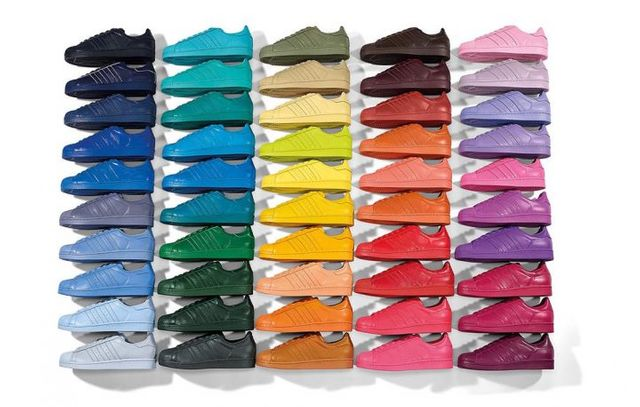 adidas Superstar Supercolor : 50 couleurs selon Pharrell