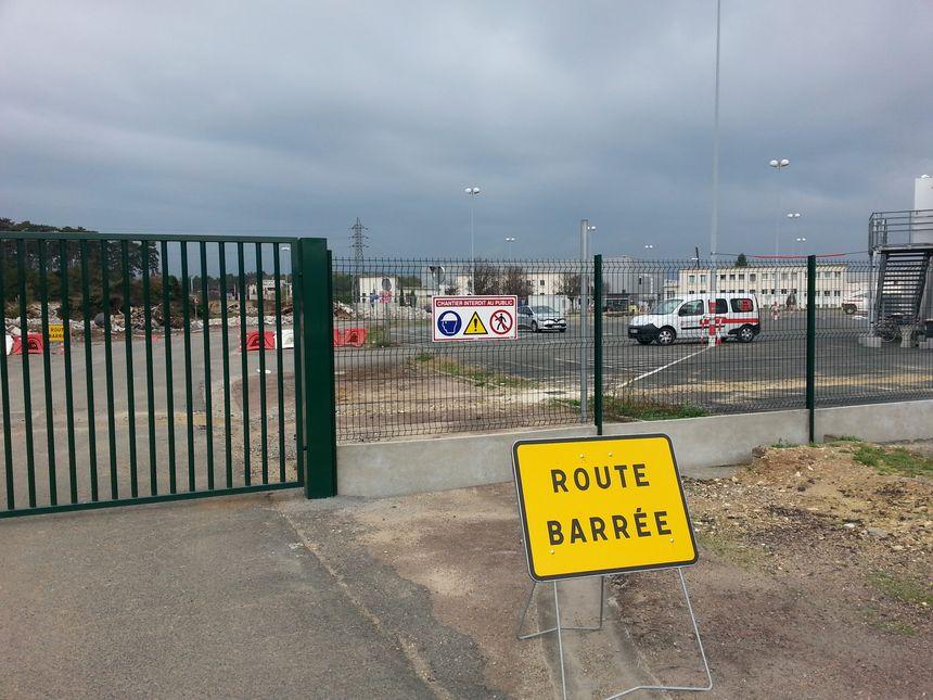 L'entrée sud du site est fermée jusqu'à l'été 2016.