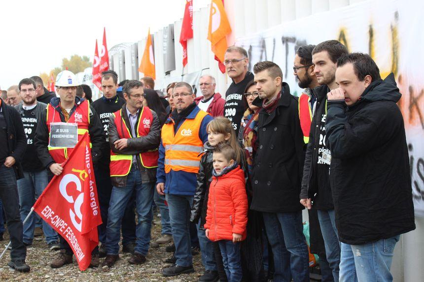 Manifestation fin octobre de salariés de la centrale de Fessenheim