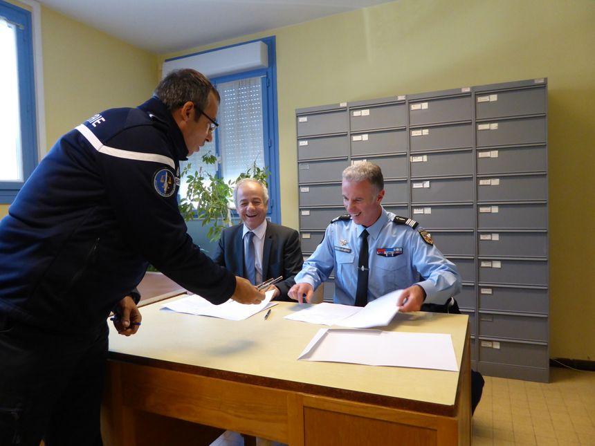 C'est dans ce bureau de poste que le gendarme assurera la permanence