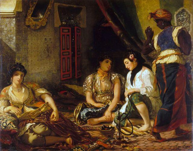 Femmes d'Alger dans leur appartement par Eugène Delacroix