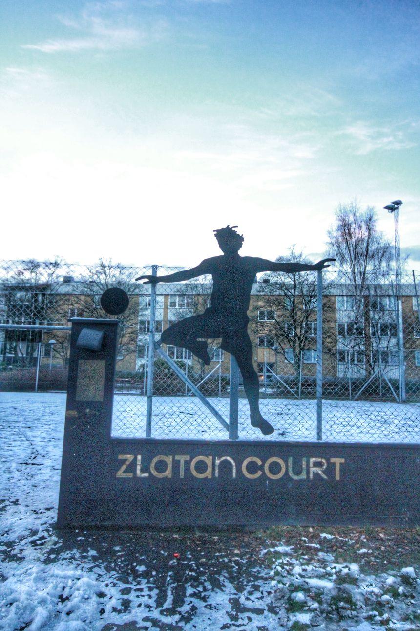 Rosengard - Malmö (Suède) le terrain de foot de Zlatan Ibrahimovic