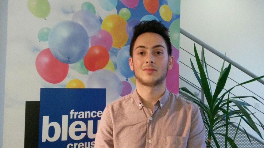 Damien Maudet, 19 ans, 2e sur la liste Nouvele Donne en Creuse