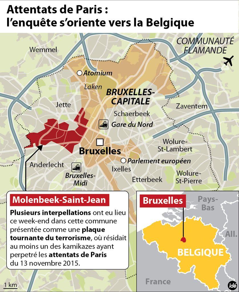 Molenbeek-Saint-Jean, en Belgique, au coeur de l'enquête