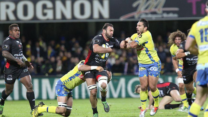 Match de Top 14 de rugby Clermont Ferrand-RCT le 28/11/2015