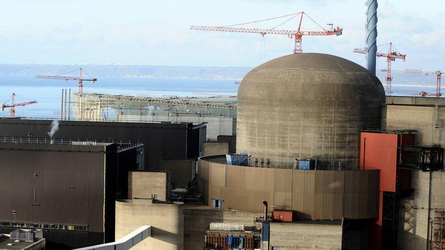Le réacteur nucléaire de la centrale de Flamanville dans la Manche