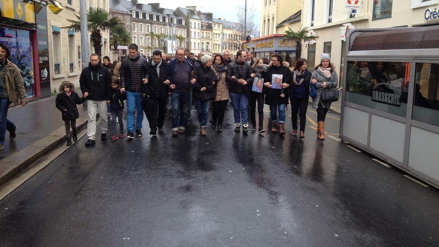 Les proches de Guillaume le Dramp organisaient une marche blanche ce samedi.