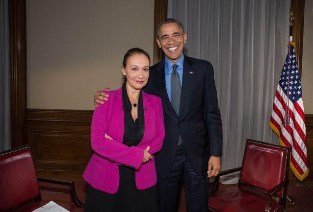 Laurence Haim et Barack Obama