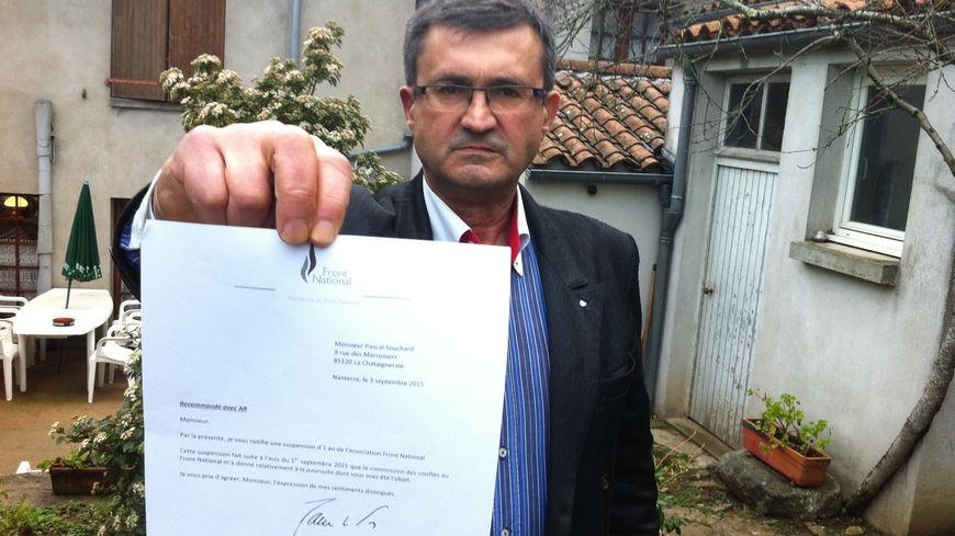 Pascal Souchard a été suspendu du FN début septembre