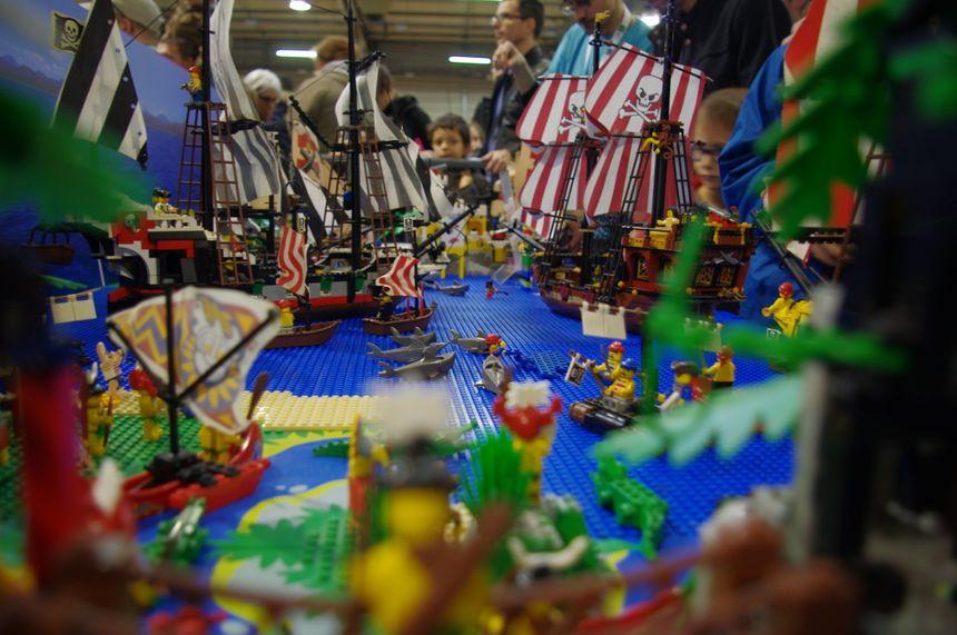 Bataille navale en Lego