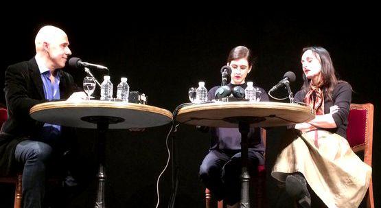 De gauche à droite : Arnaud Laporte, Victoria Aime et Angelica Liddell