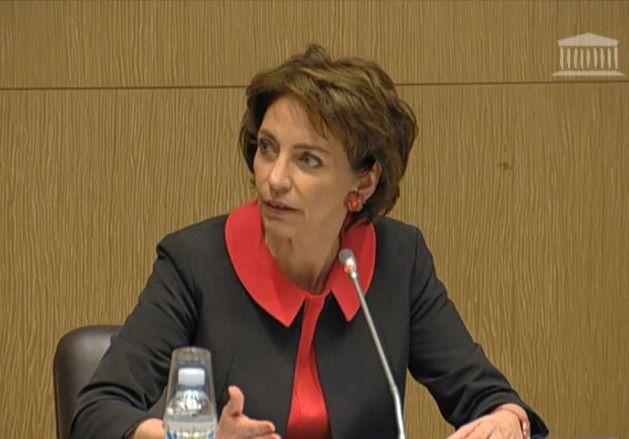 Capture vidéo de Marisol Touraine à la commission de l'Assemblée Nationale sur les adjuvants vaccinaux