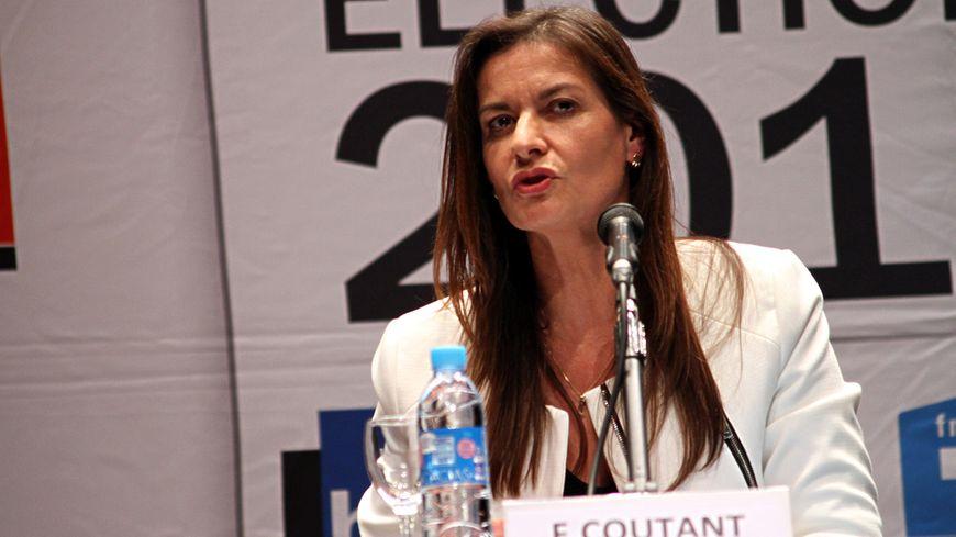 Françoise Coutant, lors du débat à Hendaye début novembre