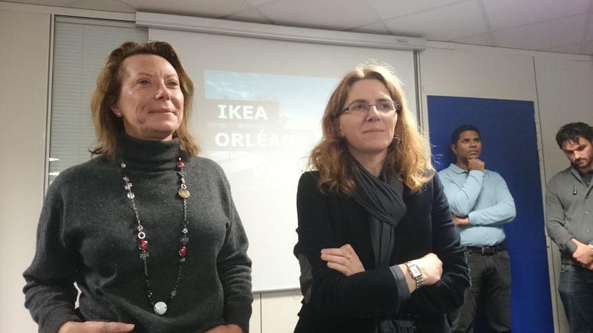 Christine Frick et Graziella Poupeau, directrice et DRH du magasin Ikea Orléans