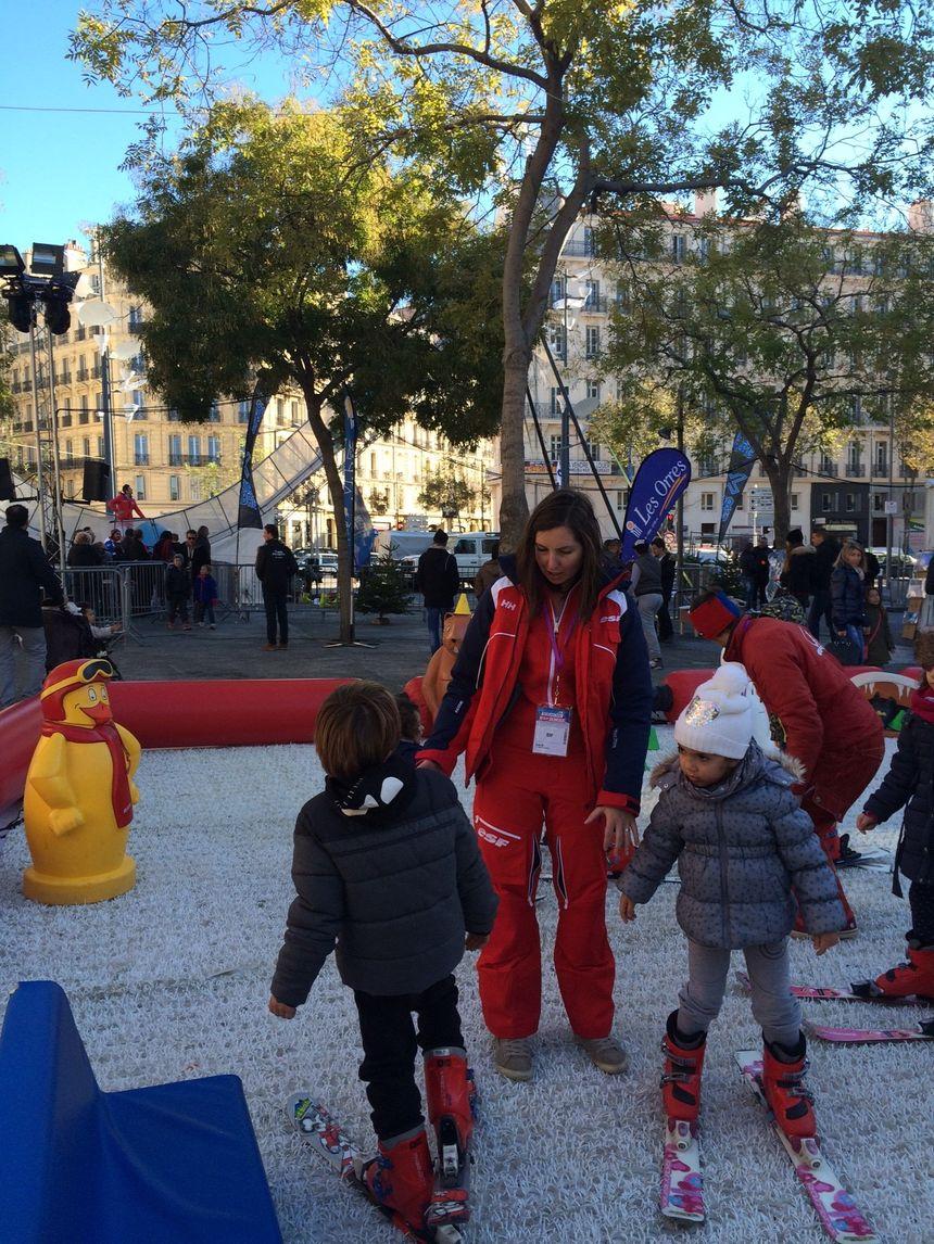 Le jardin d'enfants, place de la Joliette, à Marseille