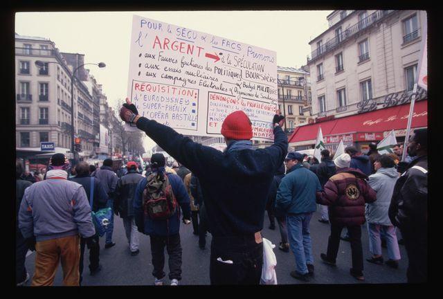 Manifestation à Paris en décembre 1995