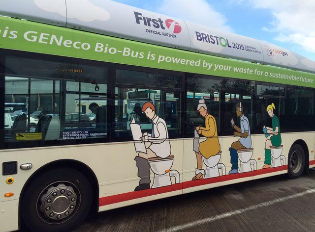 Le bio-bus de Bristol roule aux excréments