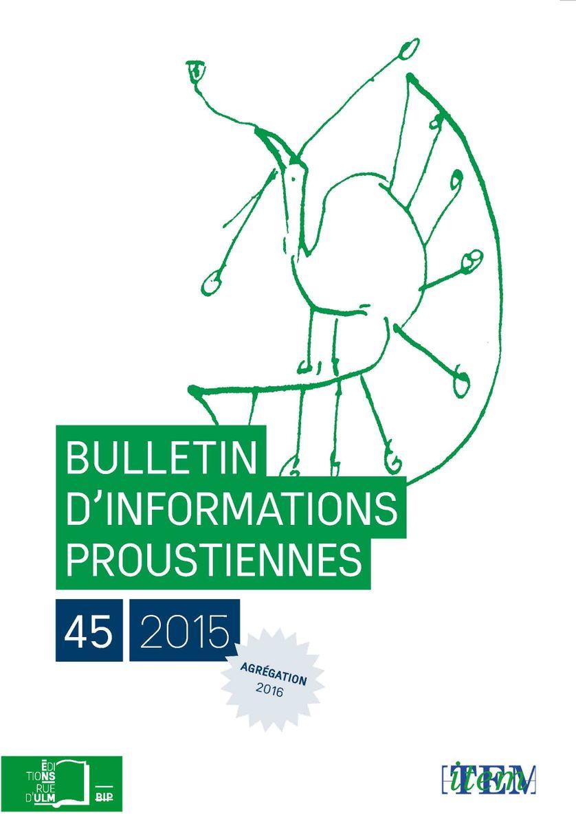 Bulletin d'Information Proustiennes 45