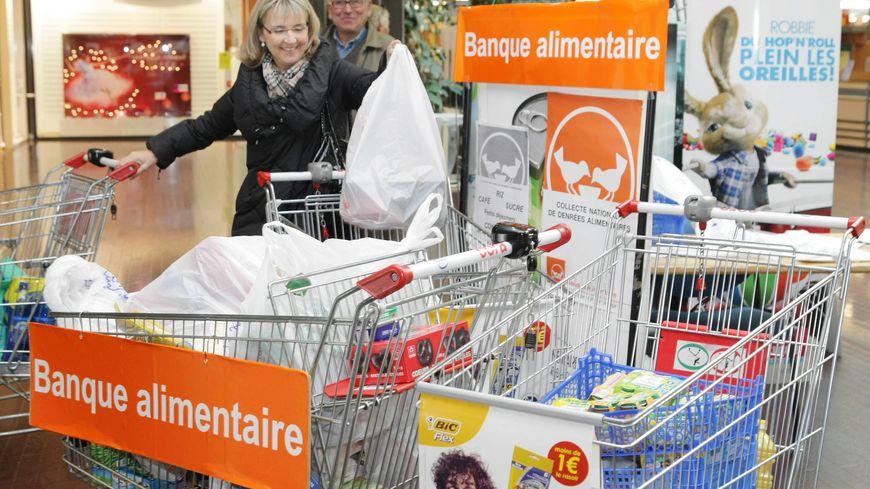 Une collecte pour une banque alimentaire à Mulhouse