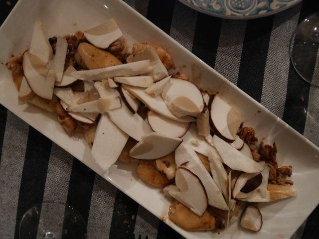 Cêpes aux calamars
