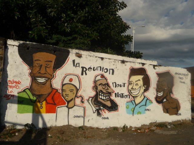 Fresque populations de la Réunion