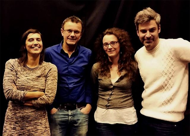 Ping Pong : Mathilde SERRELL, Frédéric FERRER , Emilie NOTERIS et Martin QUENEHEN