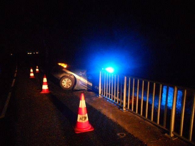 Le véhicule de gendarmerie a terminé dans le fossé, sans blessé