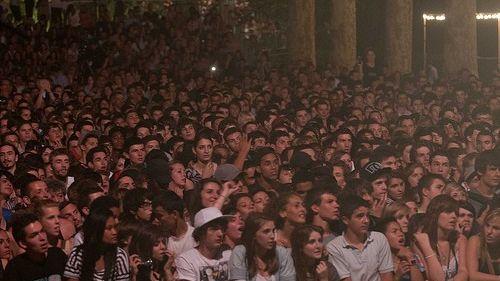 La foule au concert d'Orelsan en 2012 à Valence (illustration)