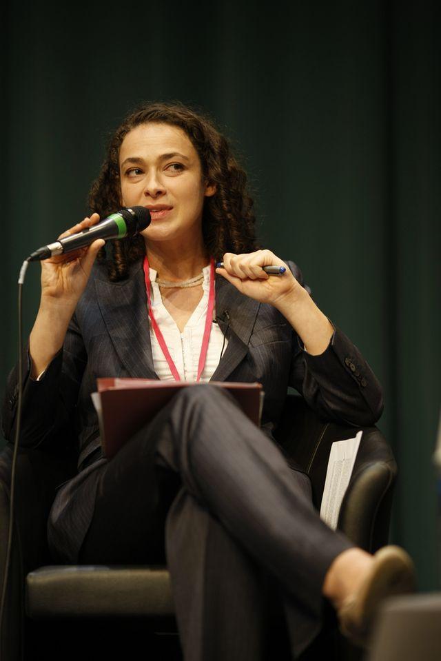 Delphine Horvilleur à l'université d'été du MEDEF le 3 septembre 2008