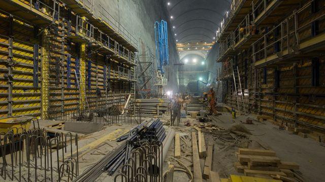 En Suisse, le chantier souterrain de Nant de Drance, en Valais.