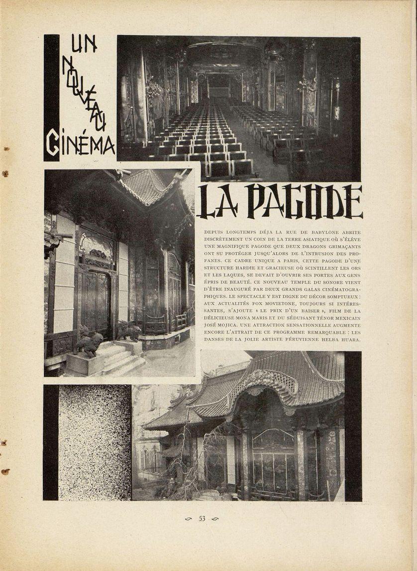 Echo dans un Ciné Magazine de mars 1931