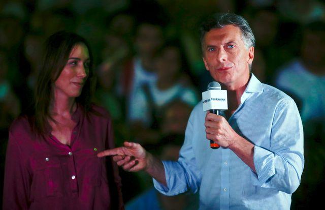 Mauricio Macri, candidat de l'opposition de droite en Argentine