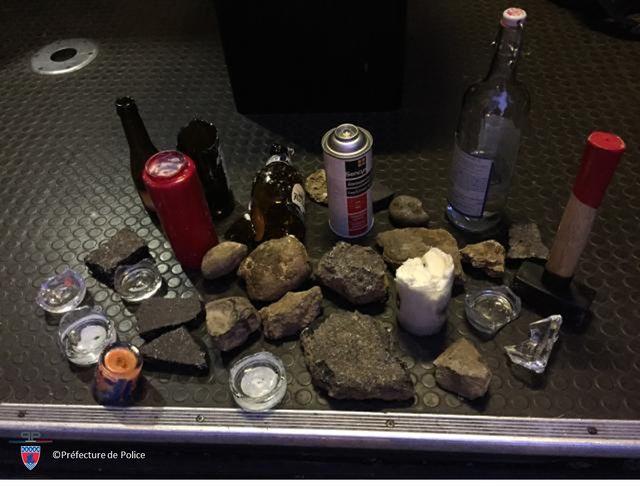 Image des objets récupérés par la Préfecture de Police