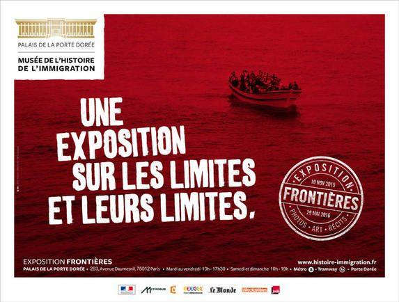 Affiche exposition Frontière Musée de l'immigration