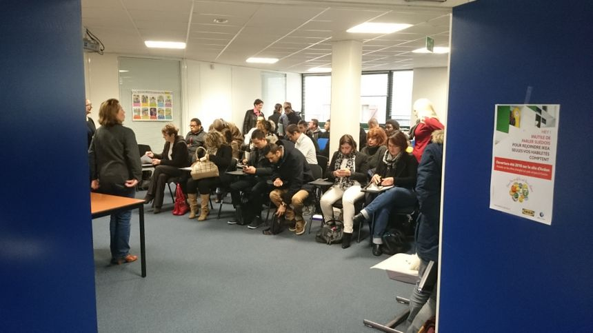200 personnes au total ont participé, hier, aux réunions Ikéa à Pôle Emploi
