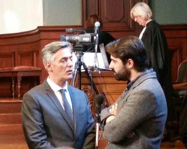 Pascal Bonnefoy et Fabrice Arfi au tribunal de Bordeaux