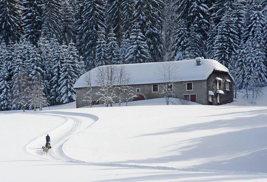 Le Jura sous la neige.