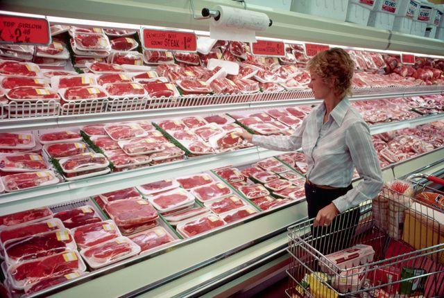 Achat de viande en magasin