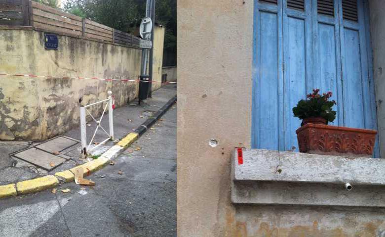 Des impacts de balle après une fusillade à Toulon.
